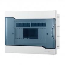 Бокс пластиковый 8 модулей накладной LEZARD 730-1000-008 с прозрачной крышкой.