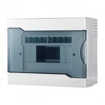 Бокс пластиковый 8 модулей накладной LEZARD 730-2000-008 с прозрачной крышкой