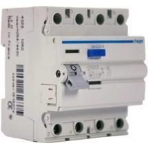 Дифференциальное реле ПЗВ 4x63А 30мА (0,03А) тип АС 4 модуля CD464J Hager