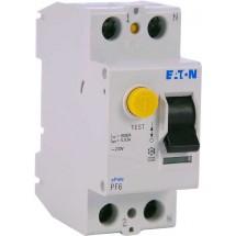 Дифференциальное реле (УЗО / ПЗВ) PF6-16A C 30mA (0.03A) 6kA тип АС 2-полюсное Eaton (Moeller) 119429