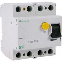 Дифференциальное реле (УЗО / ПЗВ) PF6-63A C 100mA (0.1A) 6kA тип АС 4-полюсный Eaton (Moeller) 286513