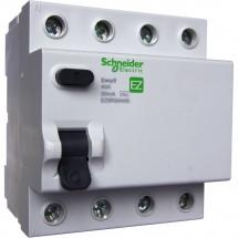 Дифференциальное реле EZ9 4Р 0,03A 25A тип AC  SCHNEIDER EZ9R34425