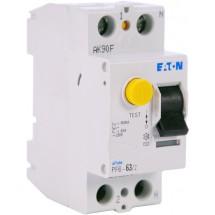 Дифференциальное реле (УЗО / ПЗВ) PF6-63A C 100mA (0.1A) 6kA тип АС 2-полюсное Eaton (Moeller) 286501