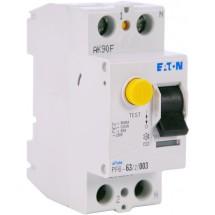 Дифференциальное реле (УЗО / ПЗВ) PF6-63A C 30mA (0.03A) 6kA тип АС 2-полюсное Eaton (Moeller) 286500