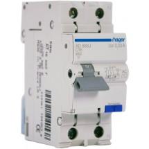 Дифференциальный автоматический выключатель 1+N 16A 30мА (0,03А) 4,5кА, 2м AD866JHager