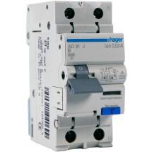 Дифференциальный автомат 1+N 16A 30мA (0.03А) В 6кA тип А 2м AD916J Hager