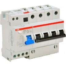 Дифференциальный автомат AC-C 25А / 400V (3-фазный) 0,03 мА тип АС DS 204 ABB