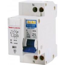 Дифференциальный автомат ДВ-2002 25А С 30mA (0,03А) УкрЕМ АСКО