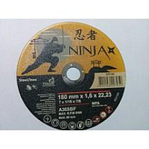 Диск отрезной по металлунержавеющей стали NINJA ТМ VIROK, 180х22,23мм t=1.6мм 65V180