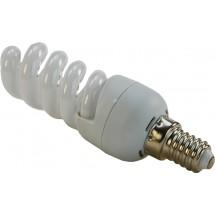 Лампа энергосберегающая 11Вт E14 spiral теплобелая Volta