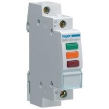 Индикатор тройной LED.Hager 230В,1м SVN129 красный-зеленый-оранжевый