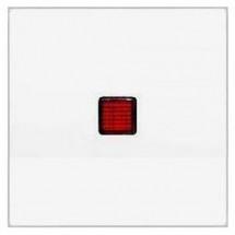 Клавиша 1-одинарная с красной линзой FIORENA 22009102 Hager белая