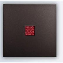 Клавиша 1-одинарная с красной линзой антрацит-matt Fiorena 22009120 Hager  Polo