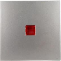 Клавиша одинарная с красной линзой Fiorena металлик 22009109 Polo / Hager