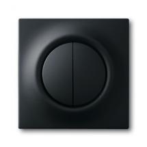 Клавиша 2-двойная 1785-775 ABB Impuls черный бархат