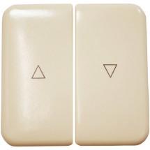 Клавиша двойная Polo Regina для выключателя жалюзи слоновая кость 13010506