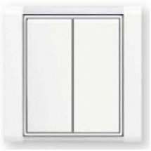 Клавиша выключателя 2-клавишная 3558Е-А00652 33 ABB Time element Tango белый цвет