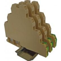 Клемма винтовая трехуровневая VS 2.5 NA 3 (2,5 mm2 бежевая) ETI 003901400