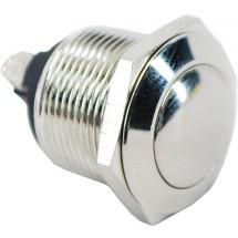 Кнопка металлическая YL213-05-NO д=23мм IP40 без фиксации АСКО