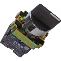 Кнопка XB2 - BD53 поворотная 3-х позиционная самовозвратная