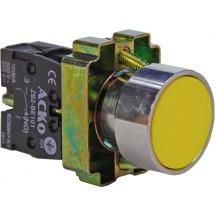 Кнопка желтая старт XB2-BА51-NO IP40 без фиксации АСКО
