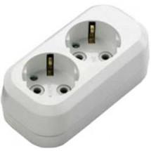 Колодка | кассета MUTLUSAN 2 гнезда Z (с заземлением) для электроудлинителя