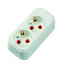 Колодка  кассета Profitec 2 гнезда Z с заземлением 16А 250V для электро удлинителя