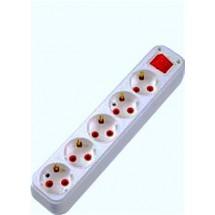 Колодка  кассета Profitec 5 гнезд ZW с заземлением и выключателем для электро удлинителя