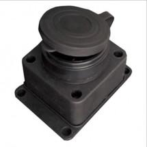 Колодка | кассета Z с заземлением 16А FETIH F-221 для электро удлинителя настенная каучук