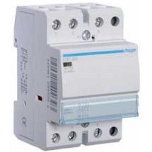 Контактор магнитный модульный Hager ESC363 230В/63A 3НО 3м