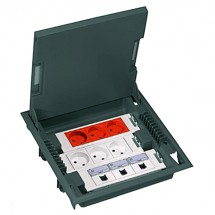Коробка монтажная напольная на 12 модулей + супорт + крышка 89606 Legrand Mosaic