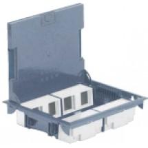 Коробка напольная Legrand 89625 с крышкой из стали на 16 модулей
