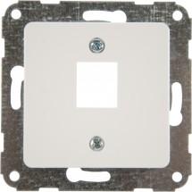 Корпус розетки (телефонной / компьютерной) 1-одинарный 1хRJ - 12/RJ - 45 Optima 12007802 Hager / Polo белый цвет