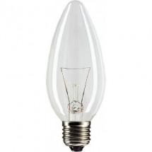 Лампа накаливания Philips В-35 E27 60W прозрачная(свеча)