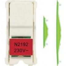 Блок светодиодной подсветки для клавишных и однополюсных выключателей красный N2192 VD ABB Zenit