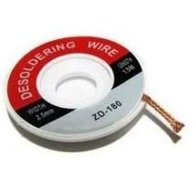 Лента для снятия припоя 2,0mm/1,5m ZD