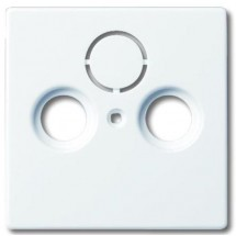 Центральная пластина TV+R+SAT Future/Solo/Carat/Axcent 1743-84 белая