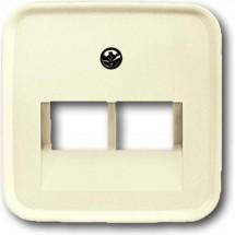 Лицевая накладка TF телефонная 2-двойная 1803-02-212 ABB Busch-Duro слоновая кость