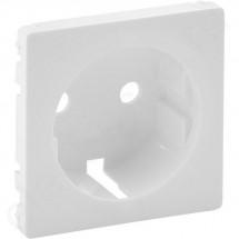 Лицевая панель для розетки 2К+3 с заземлением Valena Life 755200 белая