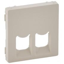 Лицевая панель для розетки RJ11/RJ45 Valena Life 755421 слоновая кость