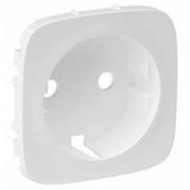 Лицевая панель розетки с заземлением ALLURE 755205 белая