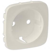 Лицевая панель розетки 2К+3 с заземлением Legrand Valena ALLURE 755206 слоновая кость