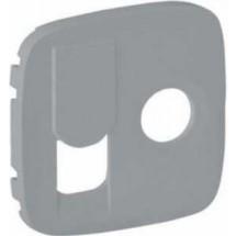 Накладка для розетки TV+RJ45 Valena Allure 754837 алюминий