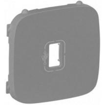 Накладка для USB розетки Valena Allure 754757 алюминий