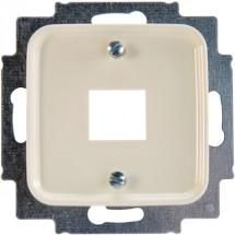 Лицевая накладка компьютер/телефон 1-одинарная RJ-12 / RJ-45 2561-212 ABB Busch-Duro слоновая кость