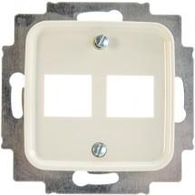 Лицевая накладка компьютер/телефон 2-двойная RJ-12 / RJ-45 2561-02-212 ABB Busch-Duro слоновая кость