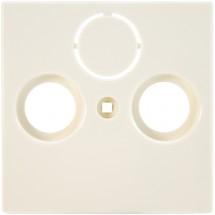 Лицевая накладка розетки TV+R+SAT телевизионной ABB Basic 55 1743-92-507 слоновая кость