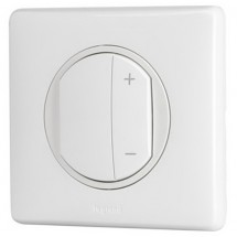 Лицевая накладка светорегулятора Legrand Celiane 68031 белый цвет