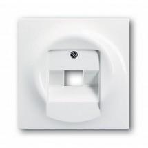 Лицевая накладка телефоннойкомпьютерной розетки 1803-74 ABB Impuls белый цвет
