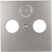Лицевая накладка телевизионной розетки Fiorena металлик-matt 22004219 Hager / Polo